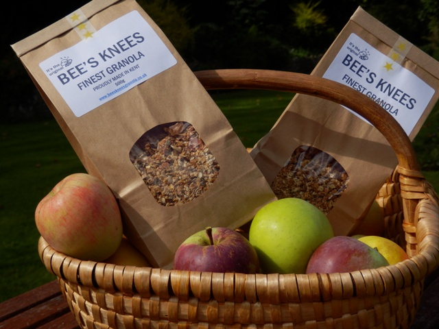 Bees Knees Granola with Kent apples